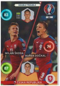Adrenalyn XL UEFA Euro 2016, Double Trouble, #060, Borek Dockal / Milan Skoda