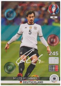 34929753b Adrenalyn XL UEFA Euro 2016, Signature, #080, Mats Hummels