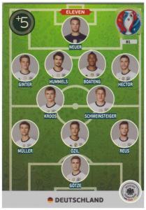 Adrenalyn XL UEFA Euro 2016, Eleven, #081, Deutschland