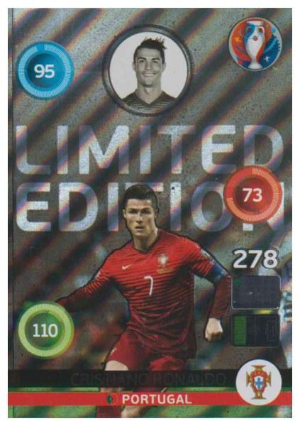 Adrenalyn XL UEFA Euro 2016, Limited Edition, Cristiano Ronaldo - Shiny