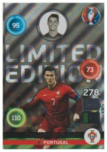 Adrenalyn XL UEFA Euro 2016, Limited Edition, Cristiano Ronaldo - Shiny