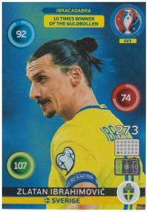 Adrenalyn XL UEFA Euro 2016, Ibracadabra, #SV3, Zlatan Ibrahimovic
