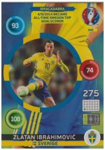 Adrenalyn XL UEFA Euro 2016, Ibracadabra, #SV6, Zlatan Ibrahimovic