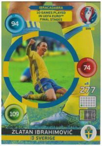 Adrenalyn XL UEFA Euro 2016, Ibracadabra, #SV9, Zlatan Ibrahimovic
