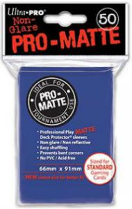 Deck protector sleeves, Pro Matte, Blue, 50ct