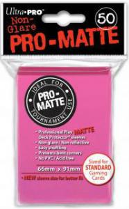 Deck protector sleeves, Pro Matte, Bright Pink, 50ct