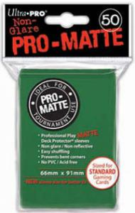 Deck protector sleeves, Pro Matte, Green, 50ct