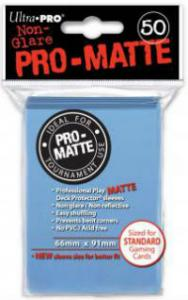Deck protector sleeves, Pro Matte, Light Blue, 50ct