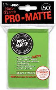 Deck protector sleeves, Pro Matte, Lime Green, 50ct