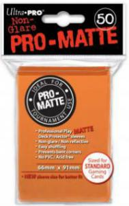 Deck protector sleeves, Pro Matte, Orange, 50st