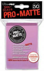 Deck protector sleeves, Pro Matte, Pink, 50ct