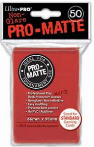 Deck protector sleeves, Pro Matte, Red, 50st