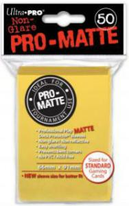 Deck protector sleeves, Pro Matte, Yellow, 50st