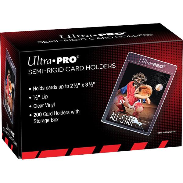 """Ultra Pro, Semi-Rigid Card Holder - 1/2"""" Lip Sleeves (200 Hållare)"""