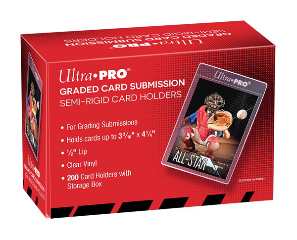 Ultra Pro, Semi-Rigid Card Holder - Graded card submission (200 Holders) [Red Box]