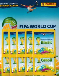 Starter pack, Panini stickers World Cup 2014 (White Boarder)