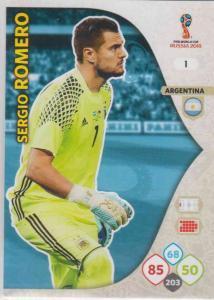 WC18 - 001  Sergio Romero (Argentina) - Team Mates