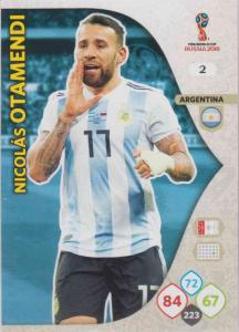 WC18 - 002  Nicolas Otamendi (Argentina) - Team Mates