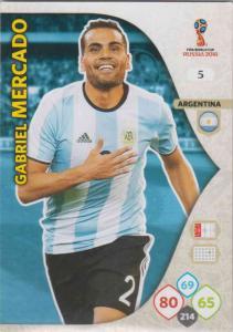 WC18 - 005  Gabriel Mercado (Argentina) - Team Mates
