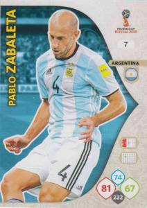 WC18 - 007  Pablo Zabaleta (Argentina) - Team Mates