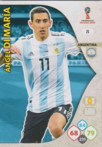 WC18 - 008  Angel Di Maria (Argentina) - Team Mates