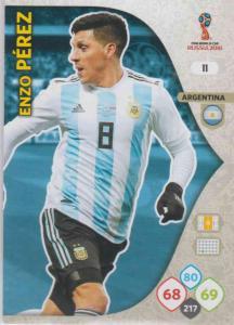 WC18 - 011  Enzo Perez (Argentina) - Team Mates