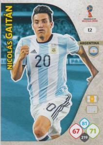 WC18 - 012  Nicolas Gaitan (Argentina) - Team Mates