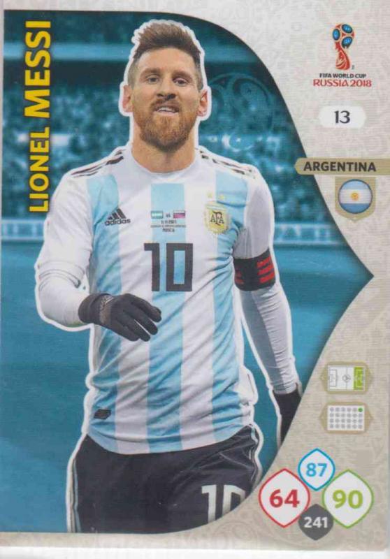 WC18 - 013  Lionel Messi (Argentina) - Team Mates