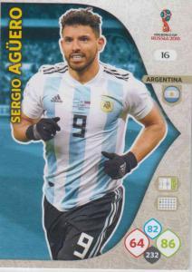 WC18 - 016  Sergio Aguero (Argentina) - Team Mates