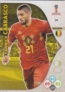 WC18 - 034  Yannick Carrasco (Belgium) - Team Mates