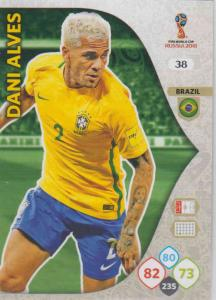 WC18 - 038  Dani Alves (Brazil) - Team Mates