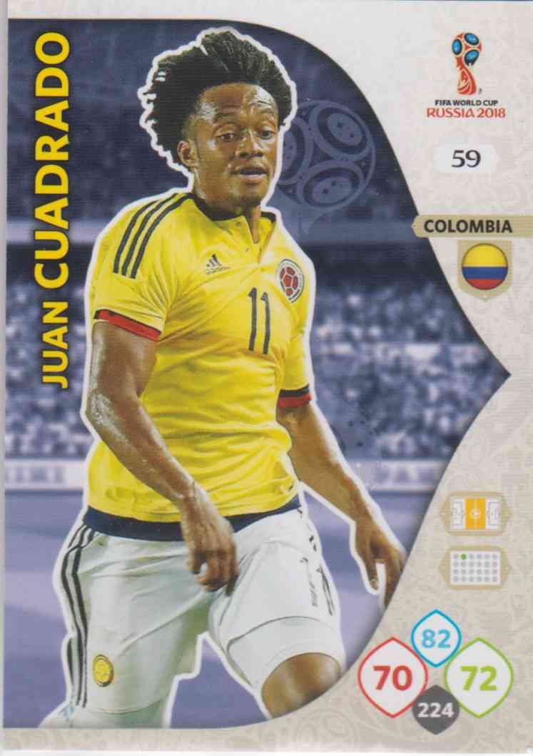 hot sale online 5107e 45ad4 WC18 - 059 Juan Cuadrado (Colombia) - Team Mates