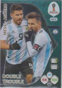 WC18 - 433  Lionel Messi, Sergio Aguero (Argentina) - Double Trouble