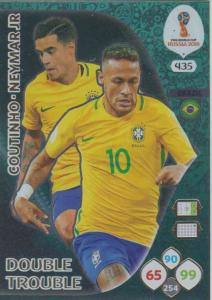 WC18 - 435  Philippe Coutinho, Neymar Jr (Brazil) - Double Trouble