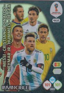 WC18 - 468 Messi, Ronaldo, Neymar Jr, Hummels, De Gea - Invincible