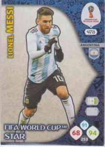 WC18 - 478  Lionel Messi (Argentina) - FIFA World Cup Stars