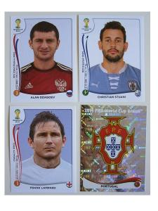 World Cup Brasil 2014 stickers COMPLETE SET (white border)