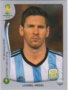Panini World Cup 2014 Sticker #430 Lionel Messi