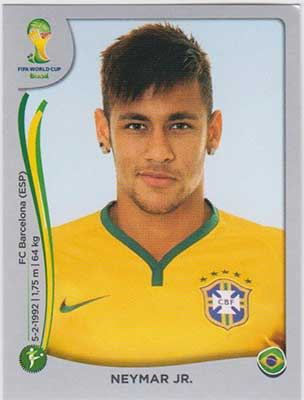 Panini World Cup 2014 Sticker #48 Neymar JR