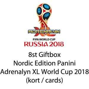 8st Giftbox, Nordic Edition Panini Adrenalyn XL World Cup 2018