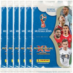 6st Paket, Nordic Edition Panini Adrenalyn XL World Cup 2018