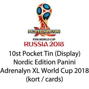 10st Pocket Tin (Display), Nordic Edition Panini Adrenalyn XL World Cup 2018