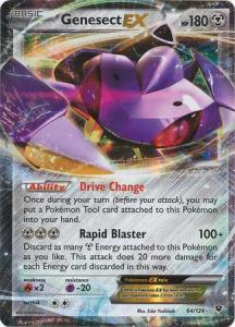 XY Fates Collide, Genesect EX - 64/124 - Ultra Rare