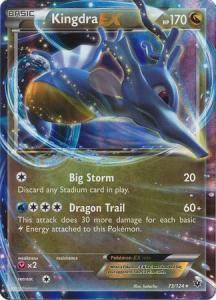 JUMBO, XY Fates Collide, Kingdra EX - 73/124 - Ultra Rare JUMBO (Large card)