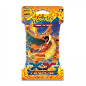Pokémon, XY Flashfire, 1 Sleeved Booster - Art: Mega Charizard Y (orange)