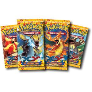 Pokémon, XY Flashfire, 4 Boosters (4 olika booster motiv / arts)