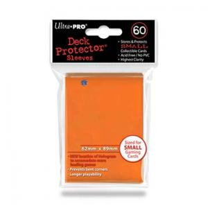 Small deck protector sleeves, orange, 60ct - Ultra Pro
