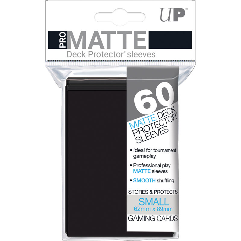 Pro-Matte, small deck protector sleeves, black, 60ct - Ultra Pro