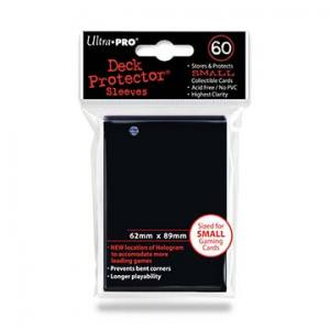 Small deck protector sleeves, Svart, 60st - Ultra Pro
