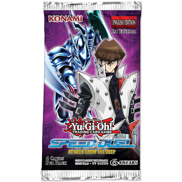 Yu-Gi-Oh, Speed Duel 2 Attack from the Deep, 1 Booster (4 cards)